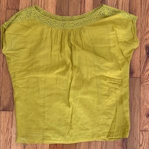 Chartreuse blouse from Anthro